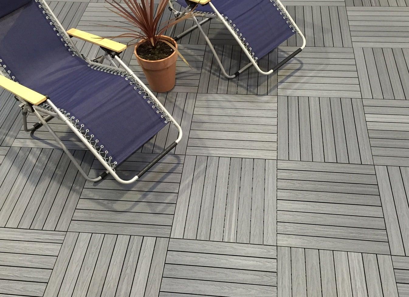 Silver Grey Composite Deck Tiles